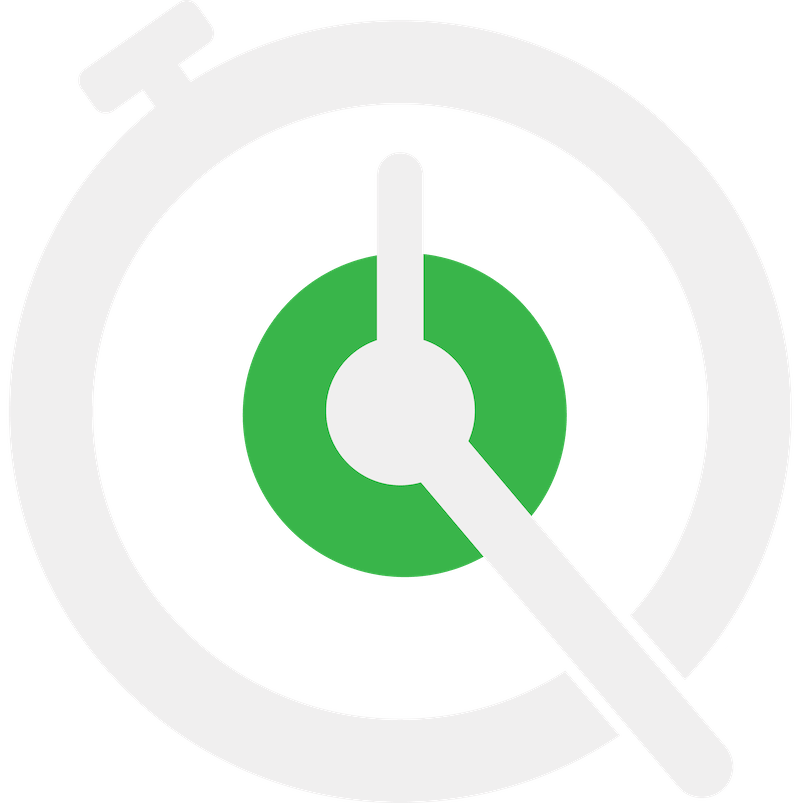 FastQSR.com stopwatch logo in white